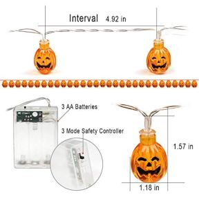 Halloween-Pumpkin-String-Lights-ZALALOVA-1312ft-30-LED-Battery-Powered-Warm-White-Halloween-Decoration-3D-Jack-O-Lantern-Pumpkin-Fairy-Light-String-for-Indoor-Outdoor-Patio-Garden-Fences-Party-Decor