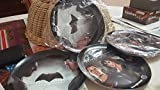 2 SET BATMAN V SUPERMAN WONDER WOMAN MELAMINE PLATE LIMITED DEAL PRICE RARE