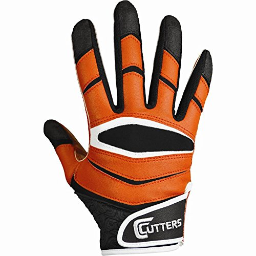 low priced 43446 290ec Cutters Gloves C-TACK Revolution Football Gloves (Orange, Large)