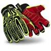 HexArmor 2021-M Medium Hi-Viz Yellow, Red/Black Rig Lizard PVC, Polyester/Cotton/Nylon Cut Resistant Glove, Slip Fit Cuff, Red TP-X Coating On Palm/Fingers, English, 15.34 fl. oz, Plastic, 1 x 1 x 1