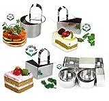NewlineNY Stainless Steel Dessert Rings (12 Pcs) Molding, Layering, Cake Cutter
