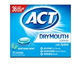 ACT Dry Mouth Lozenges Soothing Mint 36 Count Soothing Mint Flavored Lozenges with Xylitol Help Moisturize Mouth Tissue to Sooth and Relieve Discomfort from Dry Mouth, Freshens Breath