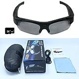 ZIMINGU 1080p Camera Glasses Video Recording 5MP Hidden Camera HD Eyewear Sunglasses for Sports Running Hiking Recording with 8GB SD Card