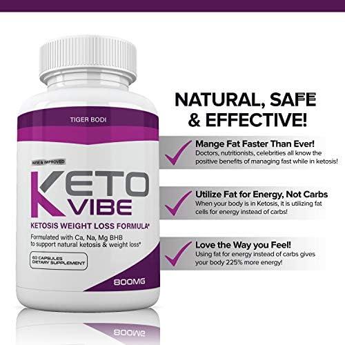 (3 Pack) Keto Vibe Pills for Weight Loss Formula, Keto Vibe Supplements Melt Fat Fast 800mg, Keto Viber for Women Men Capsules BHB, Complete Ketogenic Diet, BHB Ketones Slim Pills for Energy, Focus 6