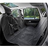 BarksBar Original Pet Seat Cover for Large Cars, Trucks and SUVs - Black, Waterproof & Hammock Convertible (X-Large, Black)