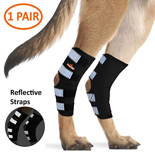 NeoAlly Dog Back Leg Braces [Pair] Canine Ankle Braces with Safety Reflective...