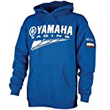Special Edition Yamaha Racing Hooded Sweatshirt Blue Crp-14frc-bl-lg