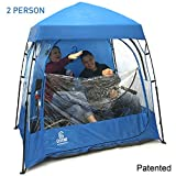 EasyGO CoverU Sports Shelter - 1 or 2 Person Weather Tent Pod - Patents Pending (2 People-Blue)