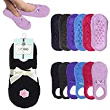 4 Pairs Womens Fuzzy Boat Socks Slippers Non-Slip Cozy Plush Foot Footies 9-11