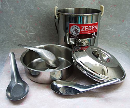Zebra Loop Handle Pot Stainless Steel (12 cm)