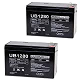 12V 8AH SLA Battery replaces WKA12-8F2 DJW12-8HD TPH12080 F2 - 2 Pack