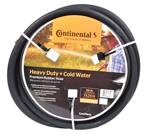 Continental ContiTech Black Rubber Heavy Duty Garden Hose, 5/8' ID x 50' Length