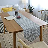 DOCOLA Modern Table Runner for Party Home Hotel Table Decoration Printed Geometric Linen Cotton Table Flag