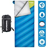 FUNDANGO Lightweight Oversize Sleeping Bag Portable for Cool Weather Camping, Hiking,Backpacking with Compression Bag