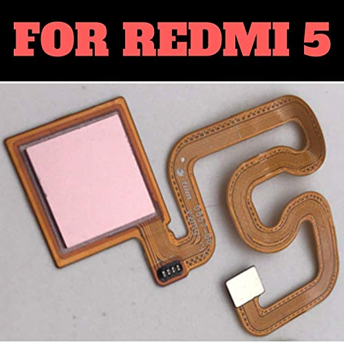 (HUKATO) Fingerprint Thumb Print Touch Sensor Reader Flex Cable Connector Compatible for Xiaomi Redmi 5 - Rose Gold 1