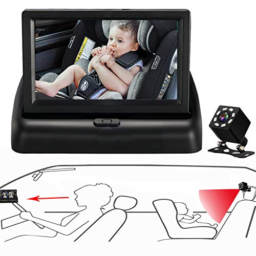 Itomoro Baby Car Mirror, View Infant in Rear Facing Seat with Wide Crystal Clear View,Camera aimed at baby