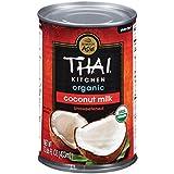 Thai Kitchen Organic Coconut Milk, 13.66 fl oz (Pack of 6, Unsweetened Dairy Free Milk)