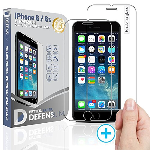 Defenslim by WITKEEN IP-6G 2Pack iPh.6/6s Tempered Glass Screen Protector - Shatter Resistant , Compatible for iPhone 6s / 6