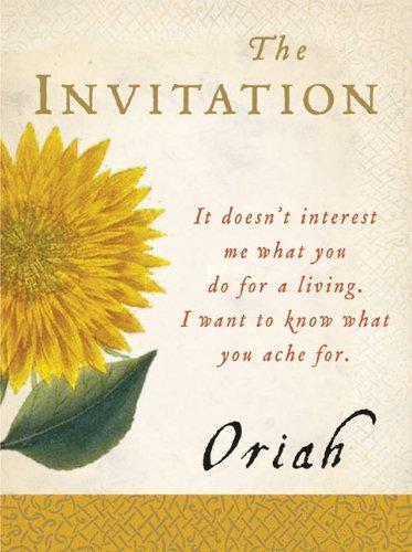 The Invitation By Dreamer Oriah Mountain