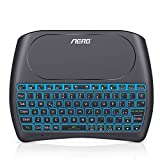 Mini Keyboard, Aerb 2019 Upgraded D8 Pro Mini Wireless Keyboard with Touch Pad Combo for Android Smart TV, PC, Xbox, RGB Backlit, Rechargeable Li-ion Battery