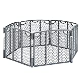 Evenflo Versatile Play Space, Indoor & Outdoor Play Space, Easy & Quick Assembly, Portable, 18.5 Square Feet of Enclosed Space, Durable Construction, For Children 6 to 24 Months, Cool Gray
