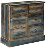 Product review for ACME Furniture 97255 Glancio 6-Drawer Chest, One Size, Antique Oak & Teal
