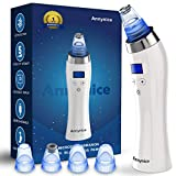 Blackhead Remover Pore Vacuum Comedo Blackhead Vacuum Suction Microdermabrasion Electric Acne Extractor Blackhead Cleaning Tool Exfoliating Machine with LED Display for Facial Skin Treatment