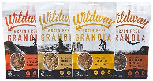Wildway Vegan Granola | Variety | Certified Gluten Free Granola Breakfast Cereal, Low Carb Snack | Grain-Free, Paleo, Non-GMO, No Artificial Sweetener | 8oz - 4 pack