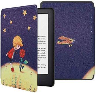 HoYiXi Funda para Nuevo Kindle 2019 Kindle Estuche 2019 Funda de Cuero Delgada con Auto Sueño/Estela Funcion Pintado Cover para Amazon de Kindle (10th Generation 2019 Release) – Príncipe