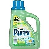 Purex Liquid Laundry Detergent, Natural Elements Linen & Lilies, 50 oz (33 loads) (Pack of 6)