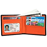 Wallet for Men,RFID Blocking Geniune Leather Wallet,Front Pocket Slim Bifold Men Wallet with ID Window
