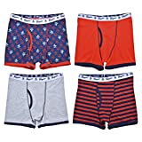 Original Penguin Boys 4-Pack Tagless Printed Boxer Briefs, 100% Cotton Jersey