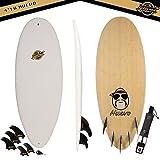 Gold Coast Surfboards | Hybrid Soft Top Surfboard | 4'10 Huevo Surf Board | Fun High Performance Surf Boards