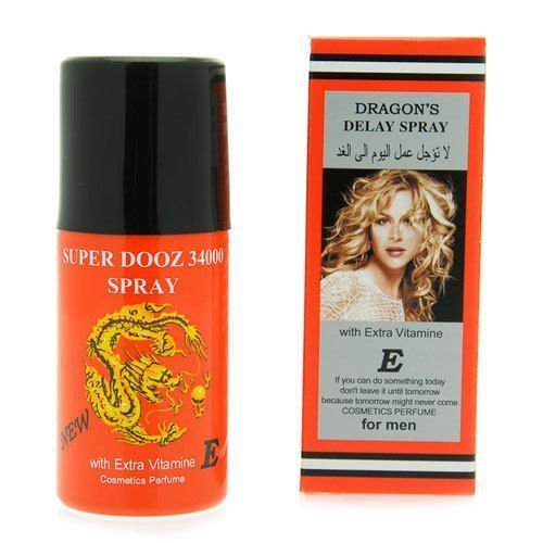 Dragon's 34000 Delay Spray for Men - Last Longer Safe Sex -- ' Expedited International Delivery by USPS / FedEx '