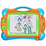 Banne Magnetic Drawing Doodle Board for Kids Toddlers 14Inch Colorful Travel Size Erasable Sketching Pad Toys for Writing Painting and Learning