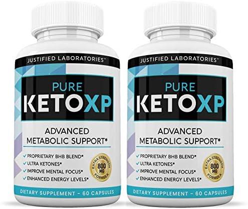 Pure Keto Xp Pills Advanced BHB Ketogenic Supplement Exogenous Ketones Ketosis for Men Women 60 Capsules 2 Bottles 3