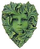 TLT 4.75 Inch Heart Shaped Primavera Greenwoman Resin Wall Plaque