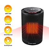 MARNUR Ceramic Space Heater - Oscillating Heater with Adjustable Thermostat and 3 Modes Timer Electric PTC Heater Fan with Overheat and Tip-Over Protection for Home and Office (1200W/600W) ETL Safety