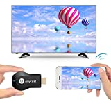 Anycast WiFi DLNA Airplay Miracast Dongle Online Streaming Device for TV 1080p Receiver HDTV Wireless Wi-Fi TV Monitor & Projector Mirascreen HDMI Adapter Media Streamer for Smartphone, Tablet, and PC