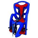 Bellelli Pepe Bike Rack-Mounted Baby Carrier, Red/Blue  (Max Wt. 50 lbs.)
