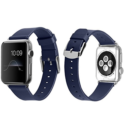 Apple Watch Band Series 2 Series 1 for Large Wrist, J&D [Classic Series] Genuine Leather Strap W...