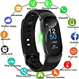LIGE Fitness Tracker,Color Screen Activity Tracker Smart Watch with Heart Rate Sleep Monitor Black Waterproof Pedometer Suitable for Men Women Children,Compatible with Android & iOS