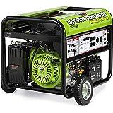 All Power America APG3590CN 10000 Watt Propane Portable Generator w/Electric Start for Home Backup Power, Hurricane Damage Restoration, RV Standby, Green/Black