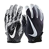 NIKE Football Glove - Vapor Knit 2.0 (Black/White/White, Large)