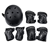 Weanas Kids Youth Adjustable Sports Protective Gear Set, Safety Pad Safeguard (Helmet Knee Elbow Wrist Pads)...
