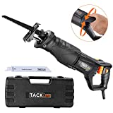 TACKLIFE Classic Reciprocating Saw, 7 Amp Sawzall with Rotary Handle(Left & Right 90°), 0~2800SPM Saber Saw, 2 Blades(Wood 6T, Metal 14T), Carrying Case, LED Lights, Ideal Recip Saw for DIY/RPRS01A