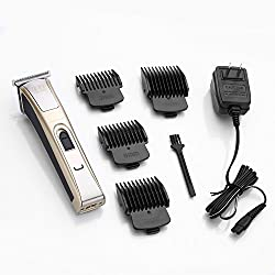 KIKI NEW GAIN Professional Cordless Rechargeable Hair Clippers Super Cutting Power Crew Cut Hair Trimmer Electric Head shaver T-shape Blade kids clipper  Image 4