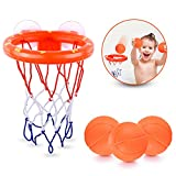BRITENWAY Fun Basketball Hoop & Balls Playset for Little Boys & Girls   Bathtub Shooting Game for Kids & Toddlers   Suctions Cups That Stick to Any Flat Surface + 3 Balls Included
