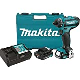 "Makita FD06R1 12V Max CXT Lithium-Ion Cordless Hex Driver-Drill Kit, 1/4"""