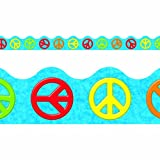 TREND enterprises, Inc. Peace Signs Terrific Trimmers, 39 ft